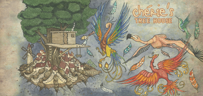 Pen and watercolor on paper